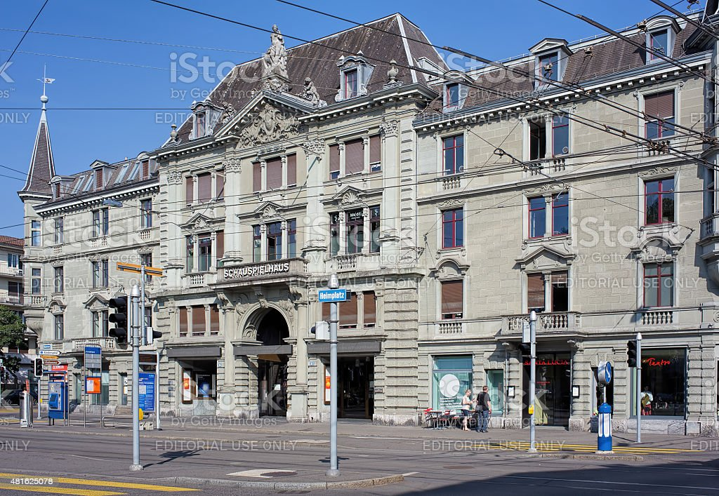 Schauspielhaus Zurich Building stock photo
