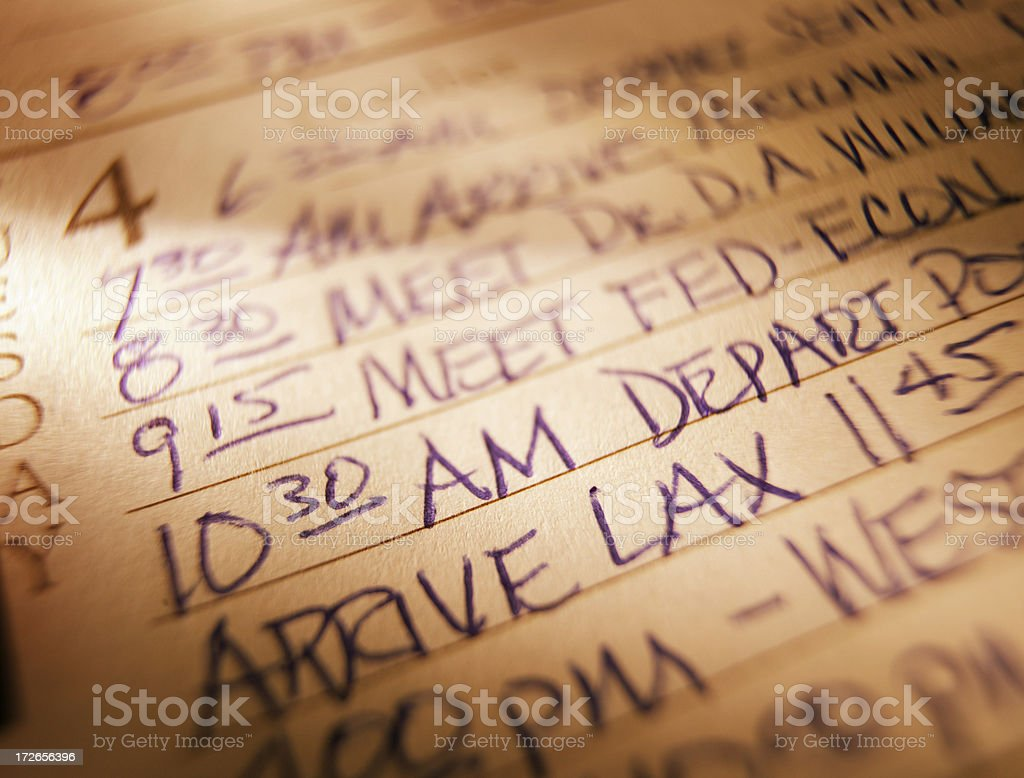 Schedule 4 royalty-free stock photo