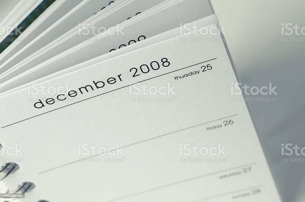 Schedule Notepad - Christmas royalty-free stock photo