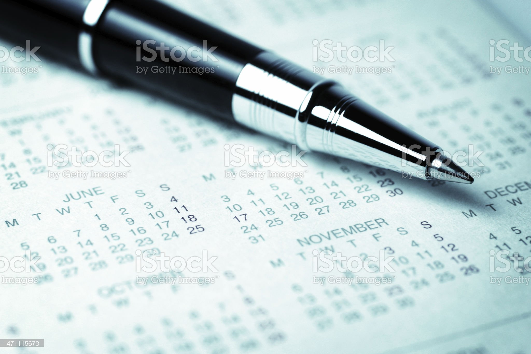 Schedule royalty-free stock photo
