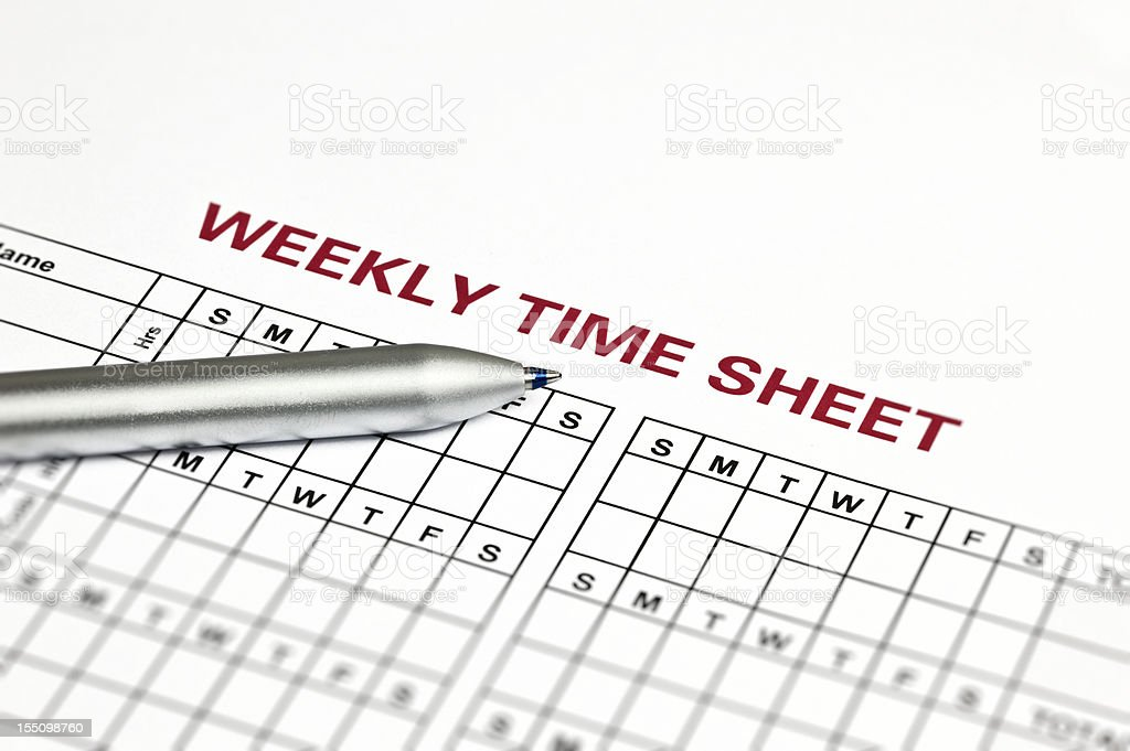 Schedule Sheet stock photo