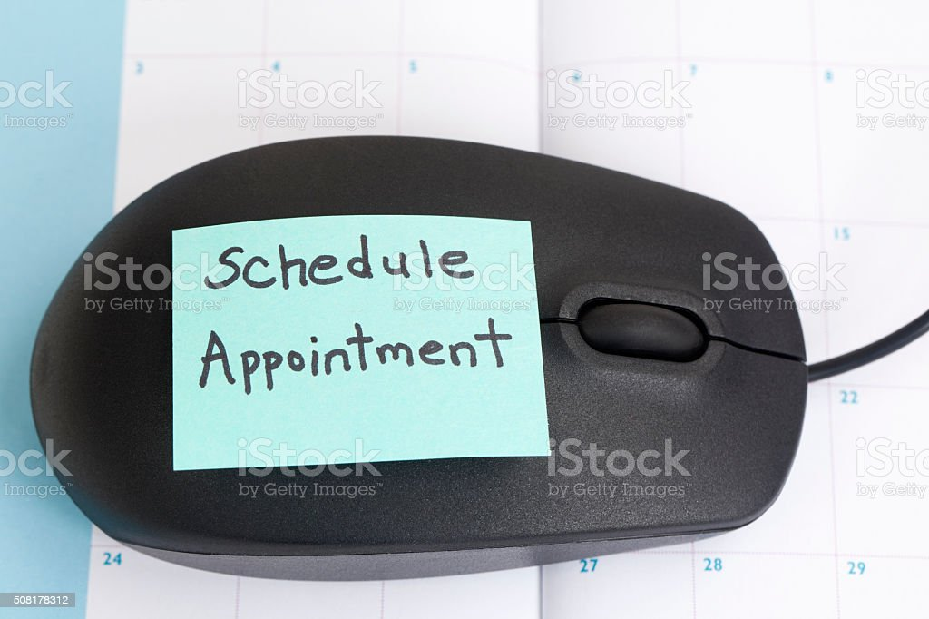 Schedule Your Appointment Online stock photo