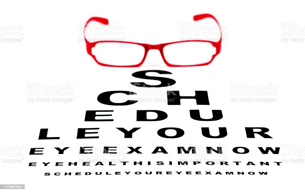Schedule Your Eye Exam royalty-free stock photo