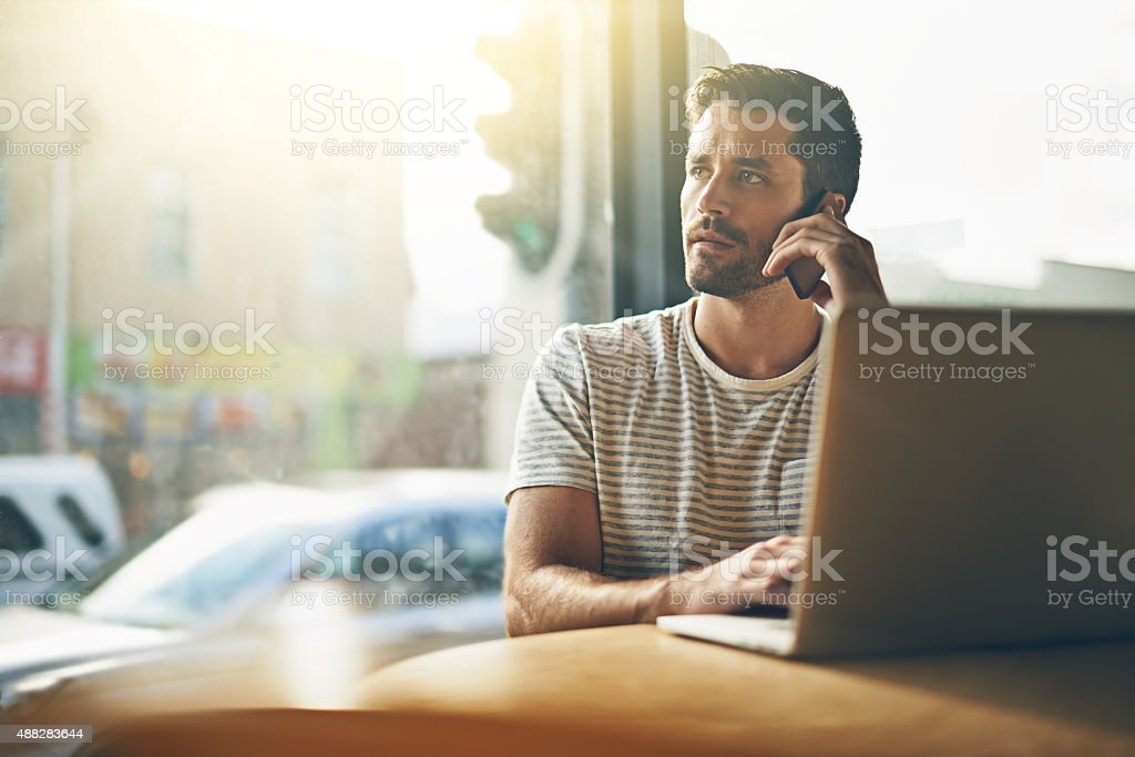 Scheduling a business meeting stock photo