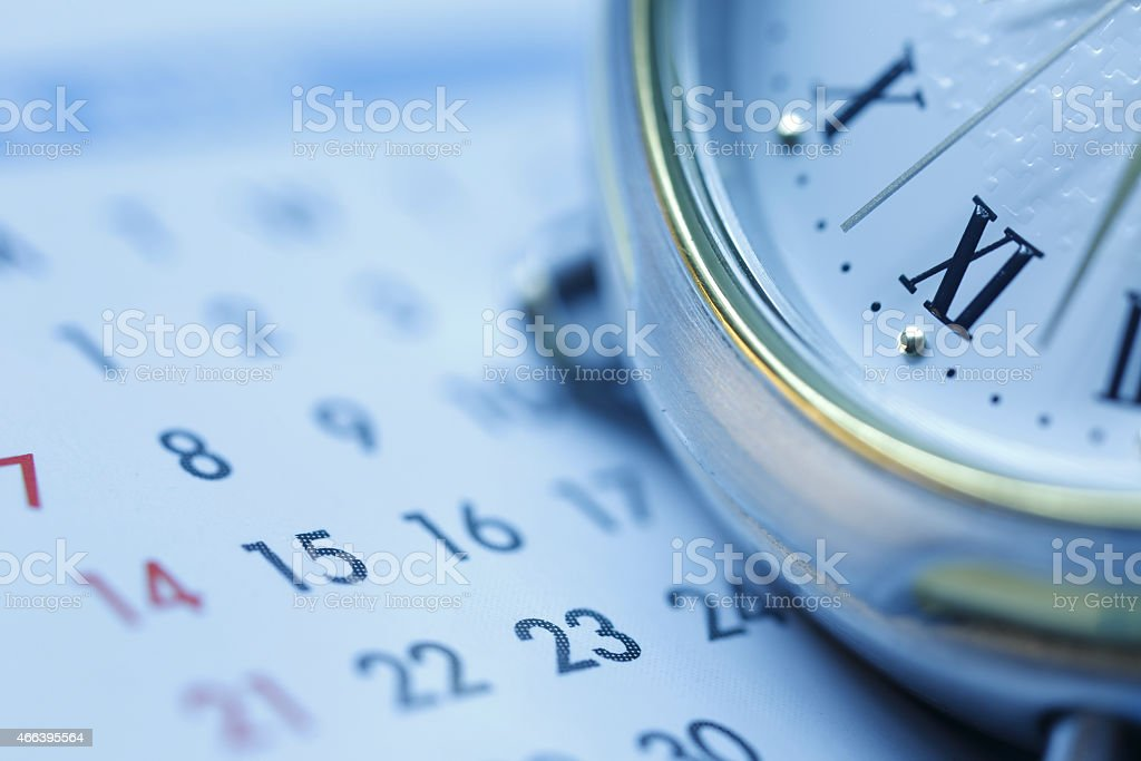 Scheduling Blue tone stock photo