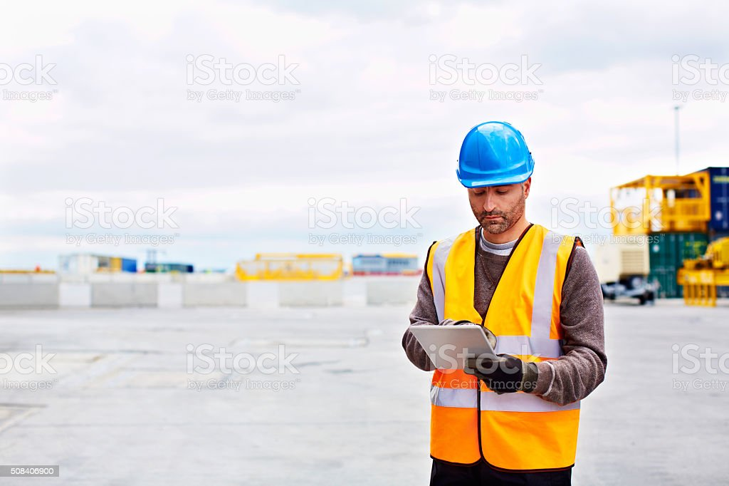Scheduling everything electronically stock photo