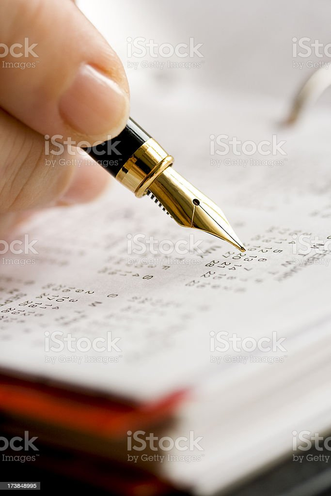 Scheduling royalty-free stock photo