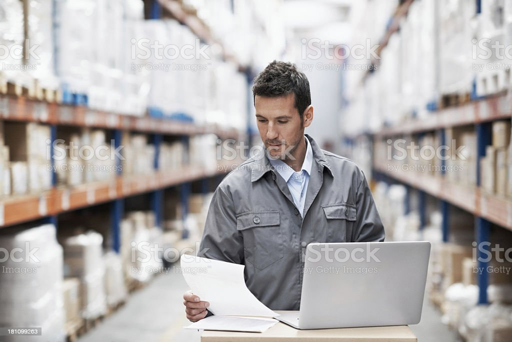 Scheduling the day's deliveries royalty-free stock photo