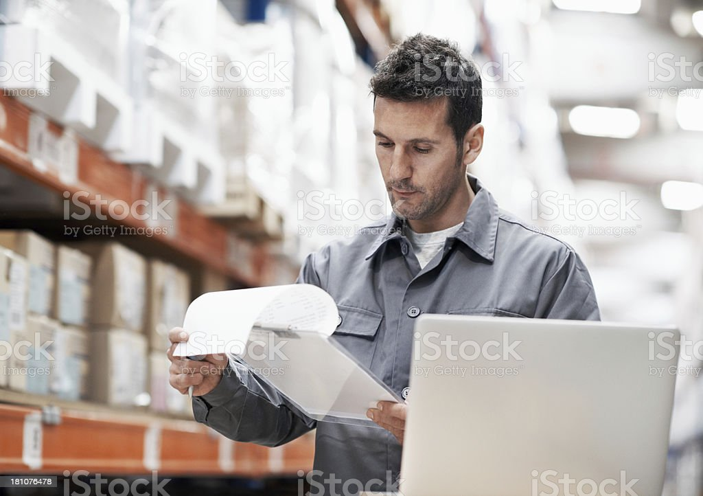 Scheduling the day's orders royalty-free stock photo