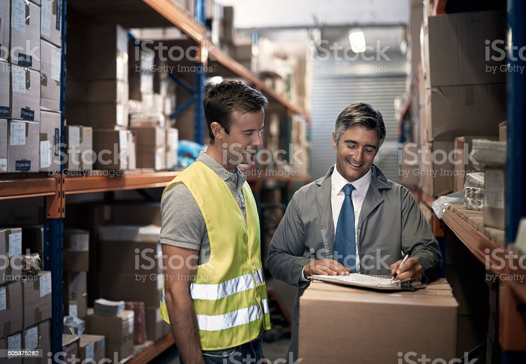 Scheduling the next shipment stock photo
