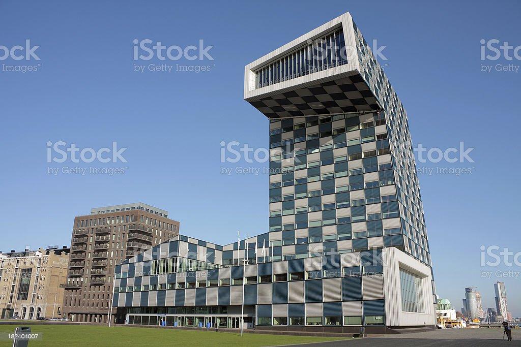 Scheepvaartcollege building Rotterdam stock photo