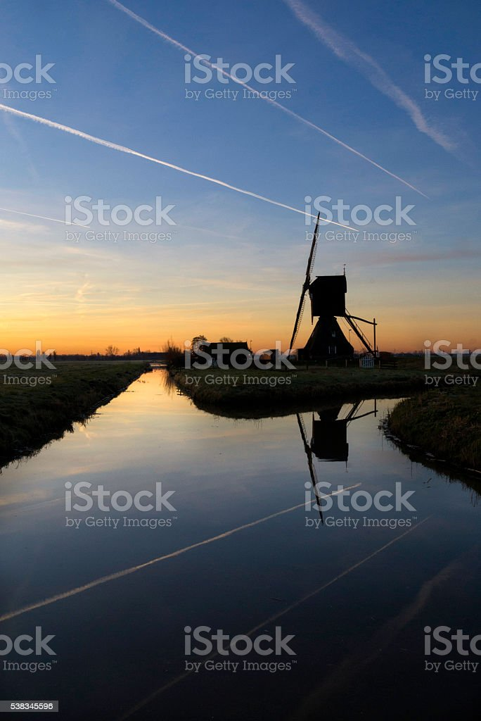 Scheiwijkse mill stock photo