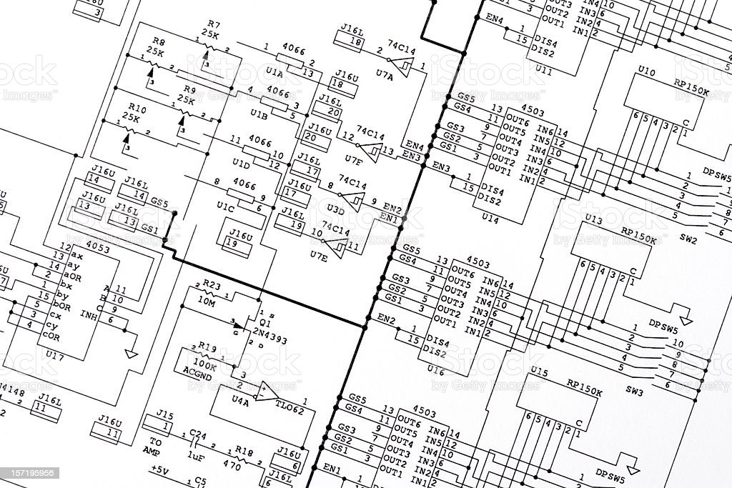 Schematic Drawing stock photo