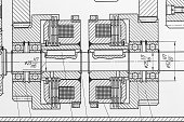 Scheme of technical drawing.