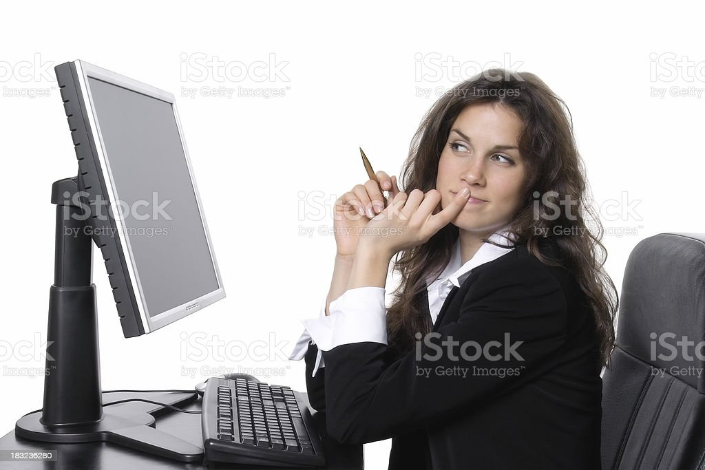 Scheming Businesswoman royalty-free stock photo