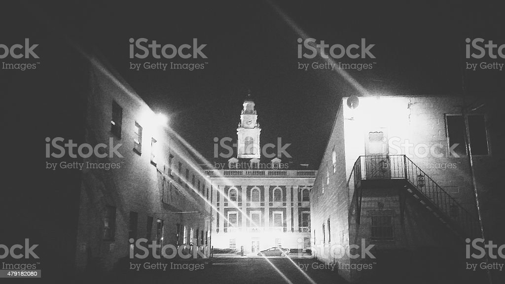 Schenectady County Town Hall Downtown City at Night, New York stock photo
