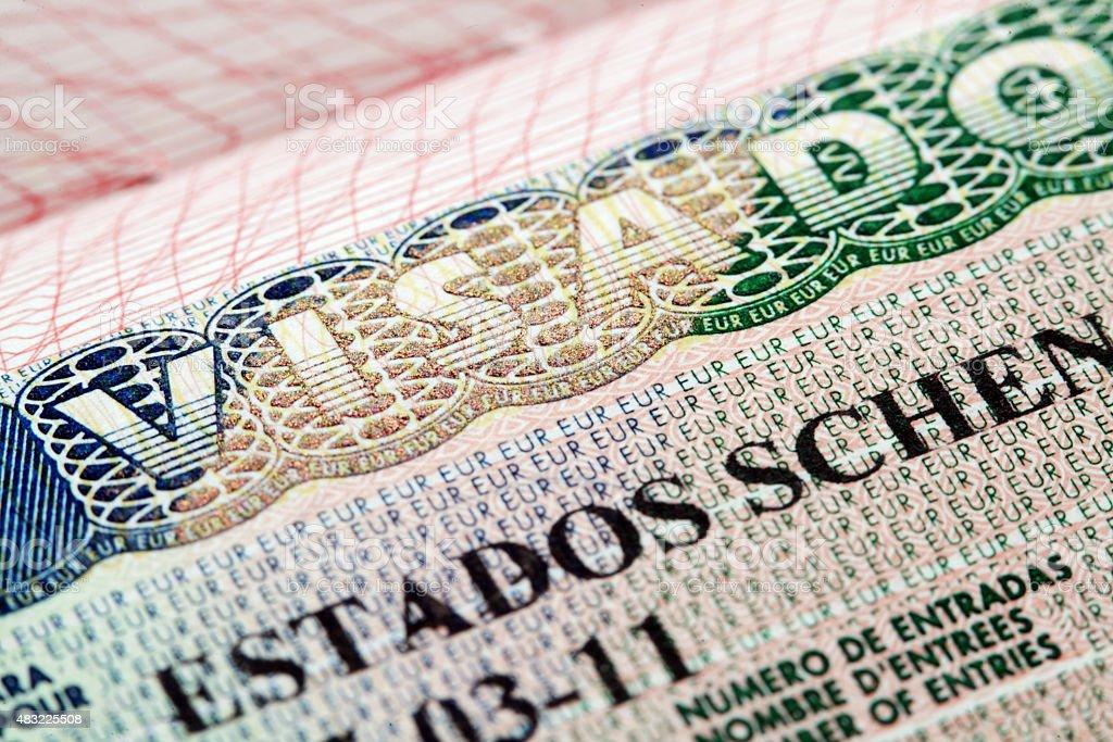 Schengen visa - Estados Schengen Visado (Spain) stock photo
