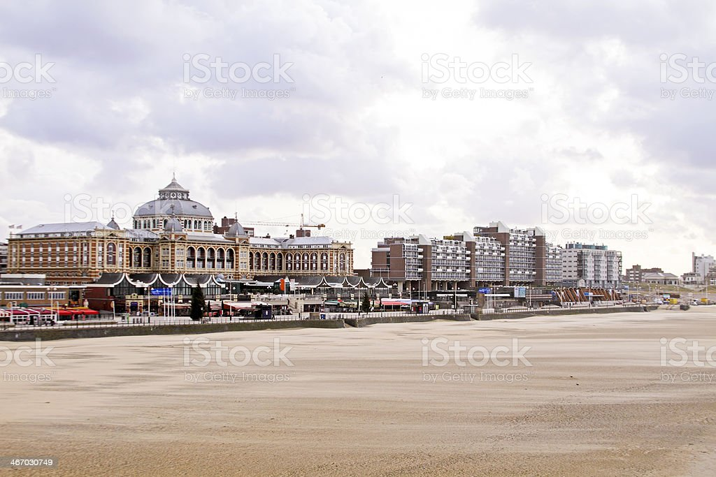 Scheveningen beach in the Netherlands stock photo