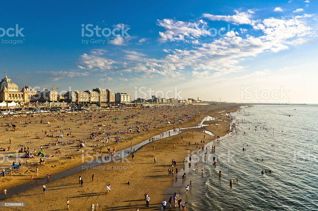 Scheveningen Beach stock photo