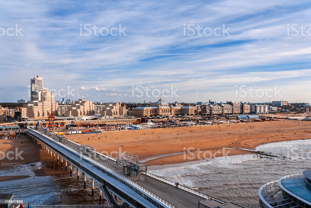 Scheveningen Beach - The Hague stock photo