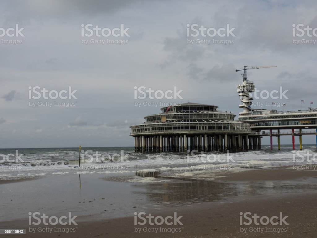 scheveningen in the netherlands stock photo