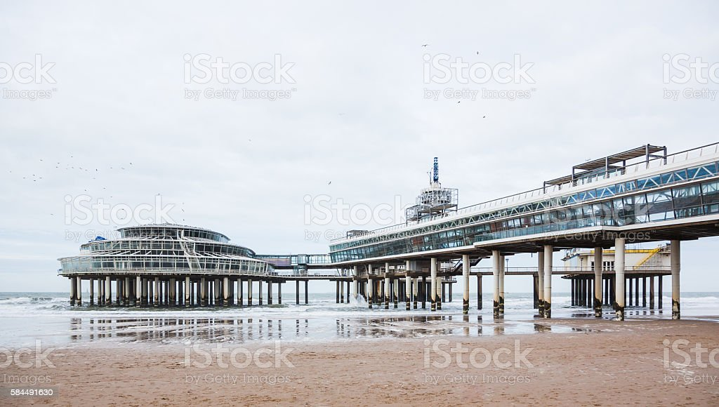 Scheveningen Pier stock photo