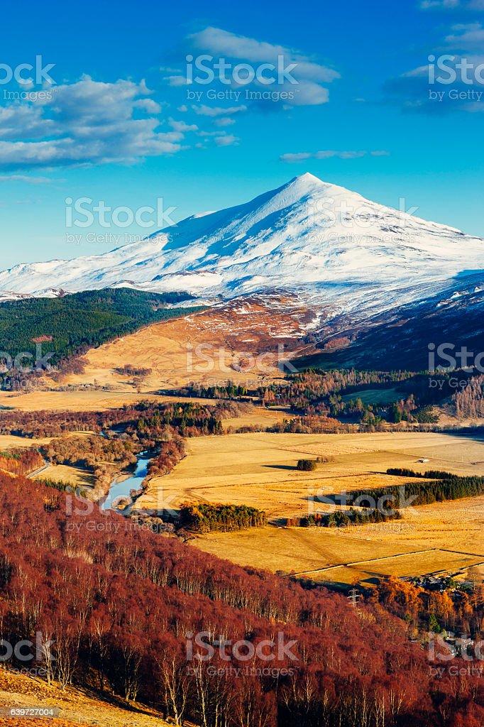 Schiehallion mountain, landscape, Highlands of Scotland stock photo