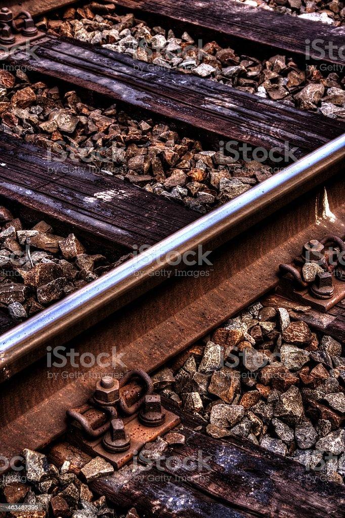 Schienenschnitt stock photo