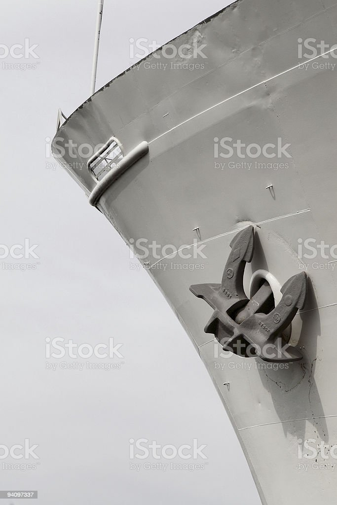 schiffsanker stock photo