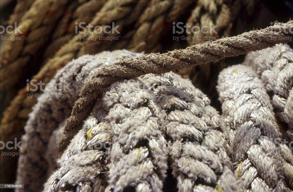 Schiffsseil / rope stock photo