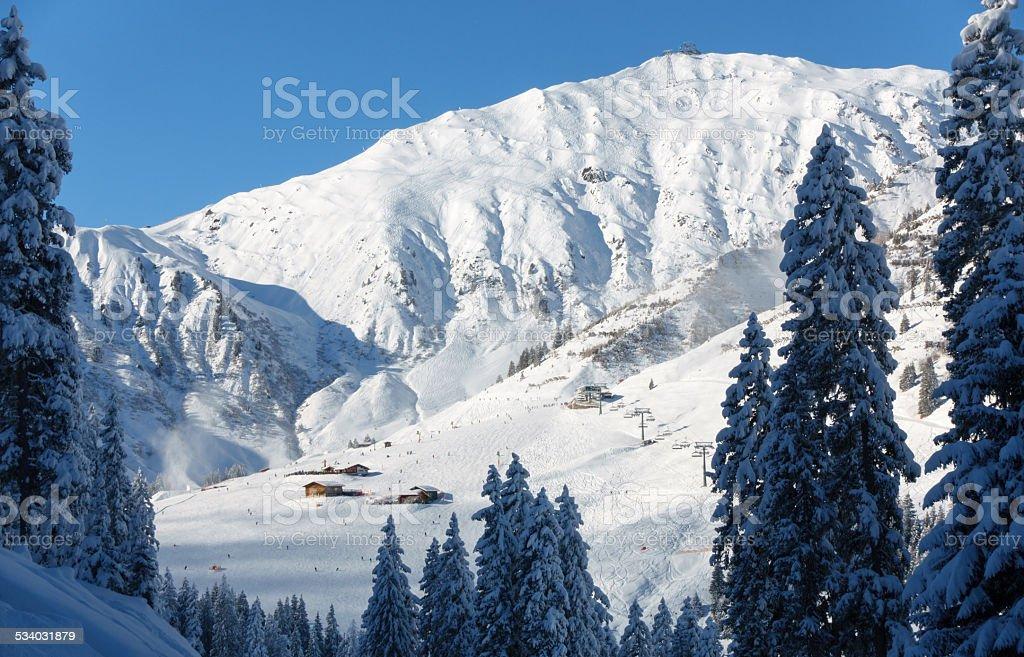 Schigebiet Penken Mayrhofen im Zillertal stock photo
