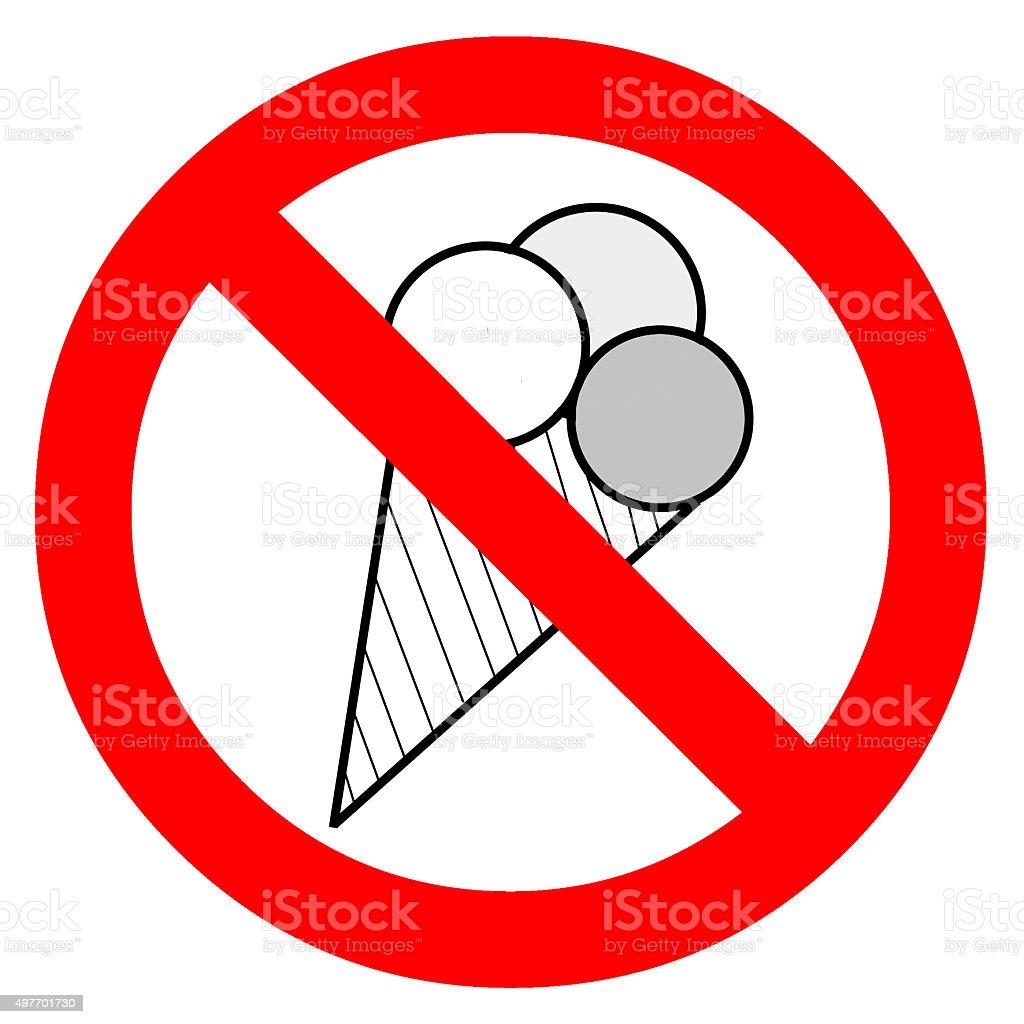 Schild Eis verboten stock photo