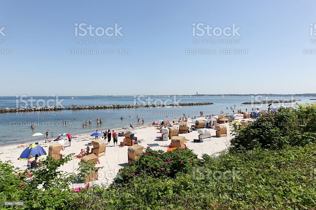 Schilksee beach surrounding the Kiel fjord stock photo