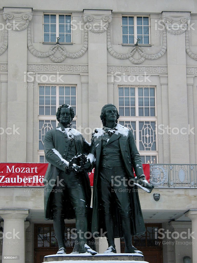 Schiller & Goethe memorial / Weimar stock photo