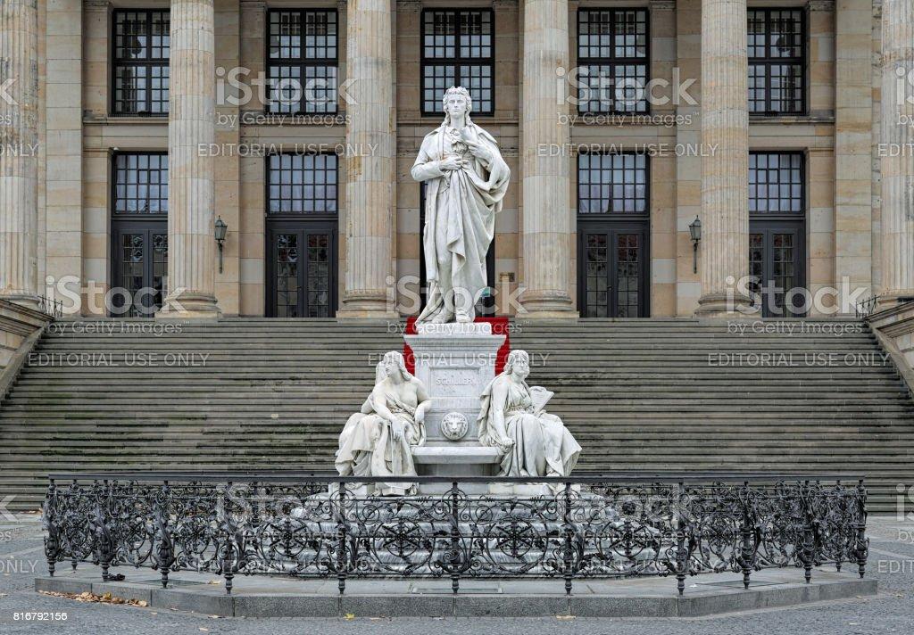 Schiller Monument in Berlin, Germany stock photo