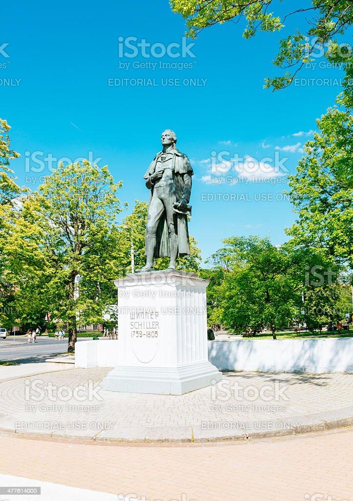 Schiller monument in Kaliningrad, Russia stock photo