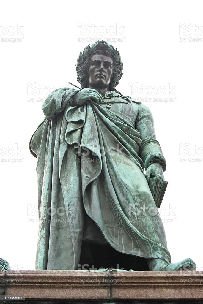 Schiller statue royalty-free stock photo
