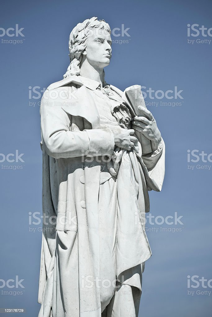 Schiller Statue stock photo