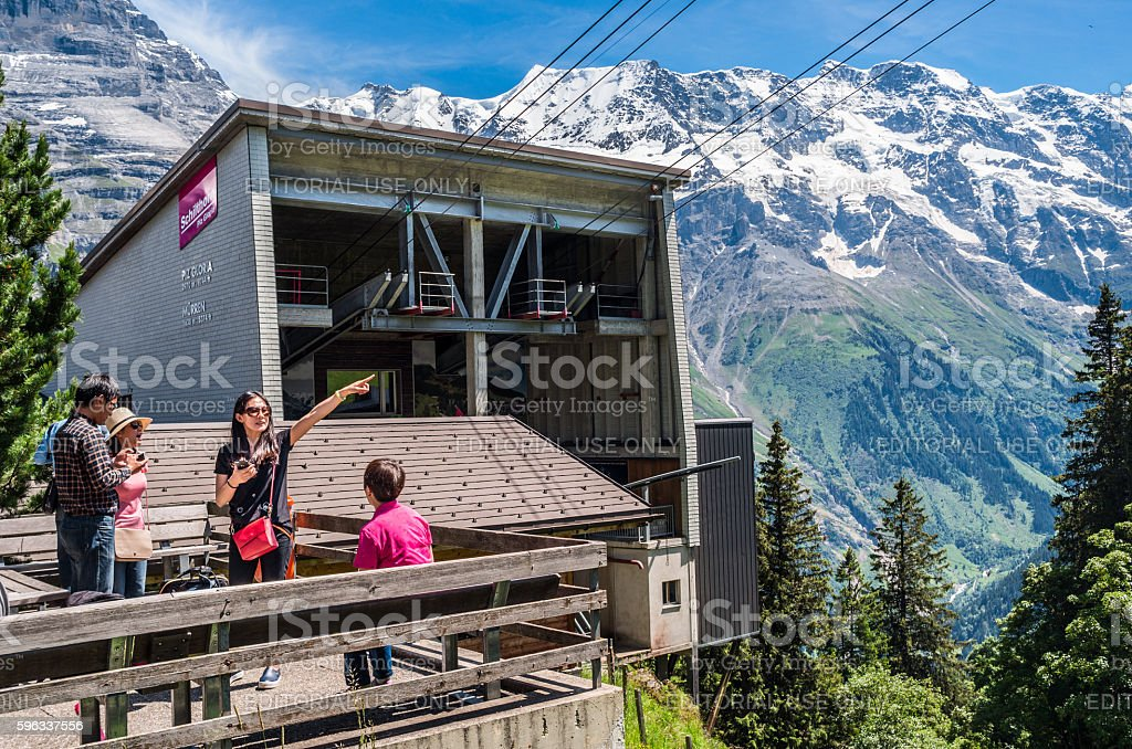 Schilthorn cable car station, Murren, Switzerland stock photo