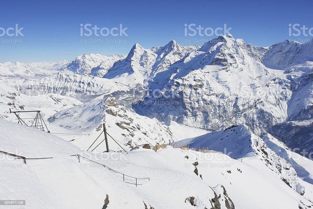 Schilthorn, Switzerland stock photo