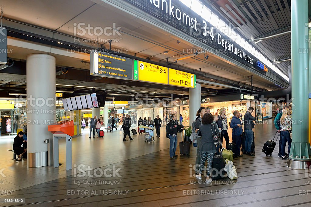 Schiphol Airport, Amsterdam stock photo