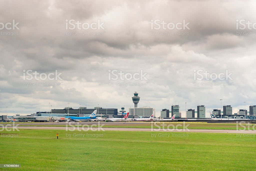 Schiphol Airport Amsterdam the Netherlands stock photo