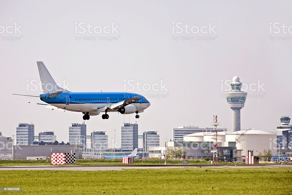 Schiphol airport in the Netherlands stock photo
