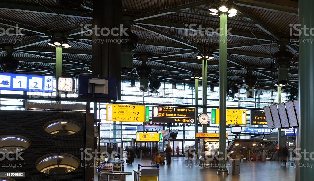 Schiphol Airport Main Concourse stock photo
