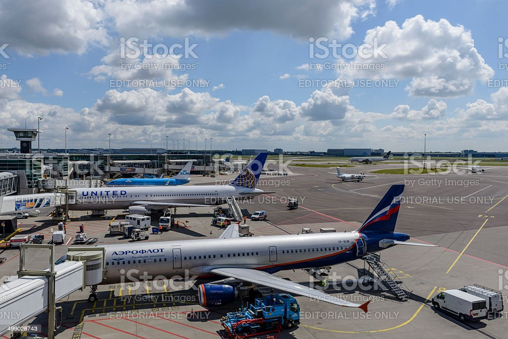 Schiphol Airport stock photo