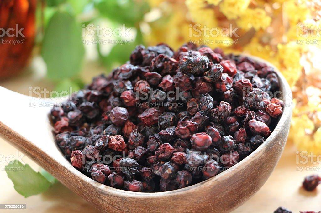 Schisandra chinensis herbal tea 한국 차 stock photo