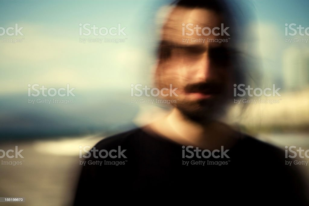 schizophrenia attack royalty-free stock photo