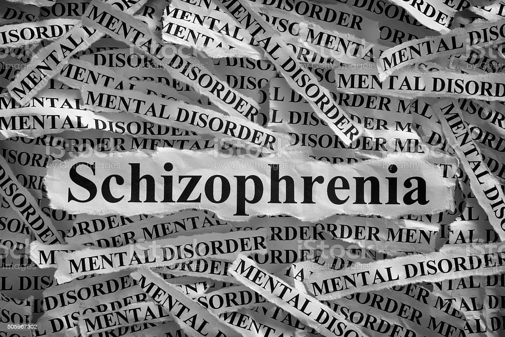 Schizophrenia stock photo