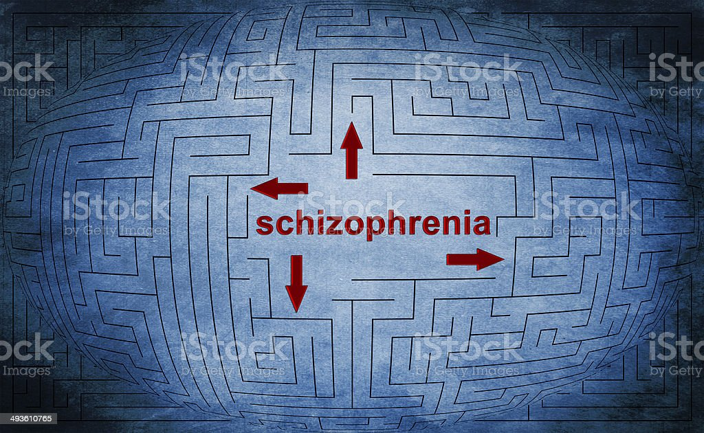 Schizoprenia stock photo