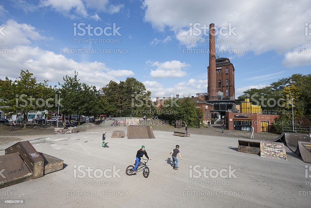 Schlachthof Bremen Cultural Centre with Skate and BMX park (XXXL) royalty-free stock photo